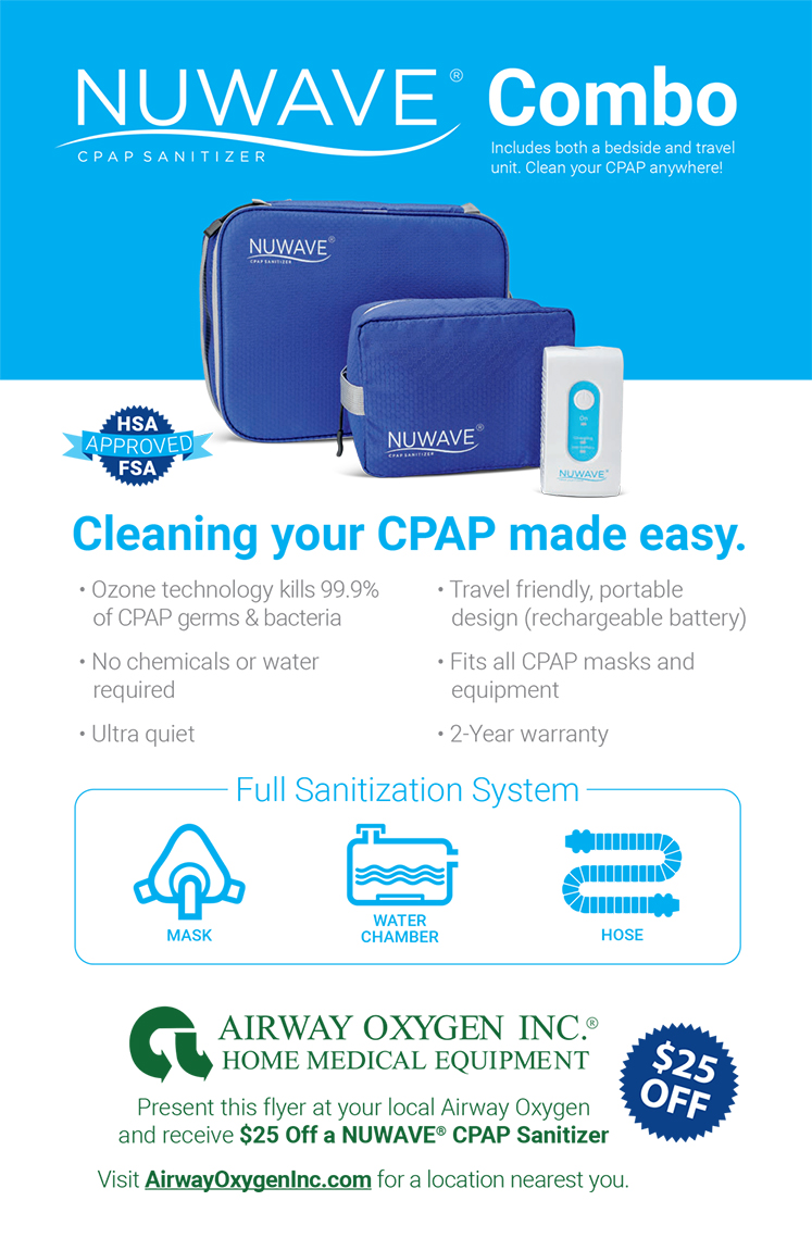 nuwave cpap sanitizer flier